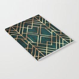 Dark Teal Geo Notebook