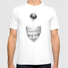 get your head out of the covers... Mens Fitted Tee White MEDIUM