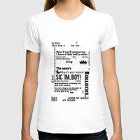 crowley T-shirts featuring Supernatural - Crowley Quotes by natabraska