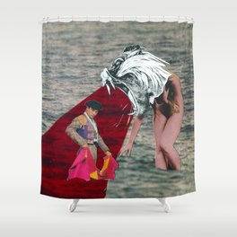 Against the bull fighter Shower Curtain