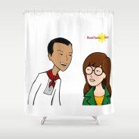 daria Shower Curtains featuring Daria meets Andres Bonifacio by Cesar Cueva