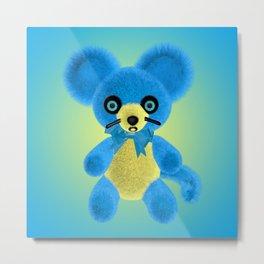 Blue Mouse Metal Print