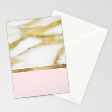 Bari Peach Marble Stationery Cards