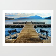 Dilly Docks Art Print