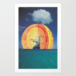 Drowned in the Sunrise Art Print