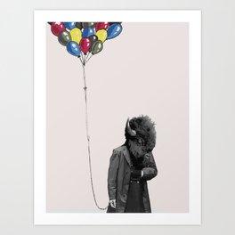 FREE BALLOONS Art Print