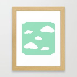 Paper Airplanes - You Can Fly - Cloud Variation - Julep Framed Art Print