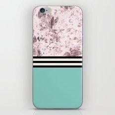 Pink Marble + Blue Floor iPhone & iPod Skin