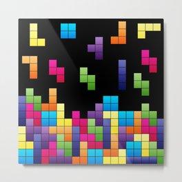 Tetris Troubles. Metal Print