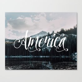 American Mountains Canvas Print