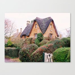 Thatched Roof Cottage Cotswolds England Canvas Print