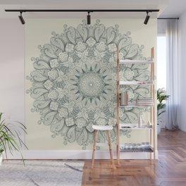Flowers in the Sea - Mandala Wall Mural