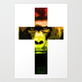 Crossed Ape Art Print