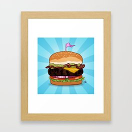 Bacon Cheeseburger Tummy Framed Art Print