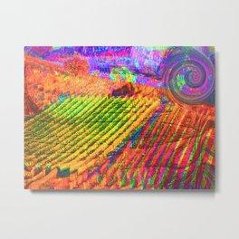 Langhe bis -Art Digital Original- Metal Print