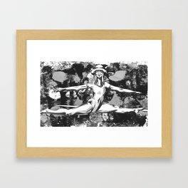 Patterned Bowler Framed Art Print