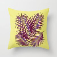 palms Throw Pillows featuring Palms by  Agostino Lo Coco