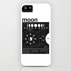 Phases of the Moon infographic iPhone (5, 5s) Slim Case
