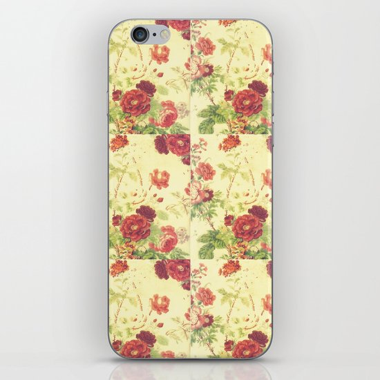 vintage blossom iPhone & iPod Skin