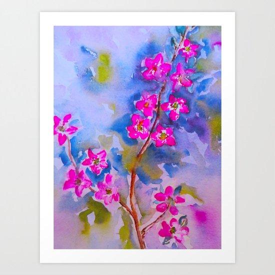 Watercolor Flowers Art Print