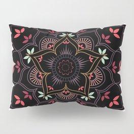 Lotus flower mandala in soft pastel colors Pillow Sham