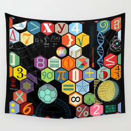 Math in color Black B Wall Tapestry