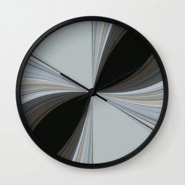 Brown and Grey Tones of Eucalyptus Swirl Pattern Wall Clock