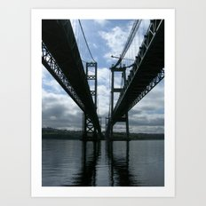 Narrows Bridges Art Print