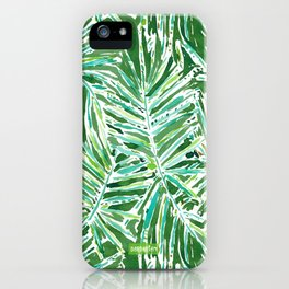 PALMY AND 85 Green Tropical Palm iPhone Case