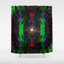 Psychedelic Fractal Shower Curtain