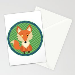 Fox Patch Stationery Cards