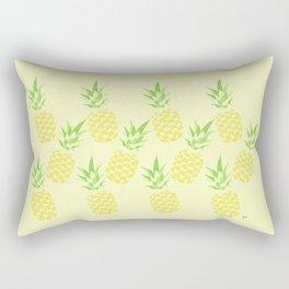 Pineapple watercolour (yellow) Rectangular Pillow