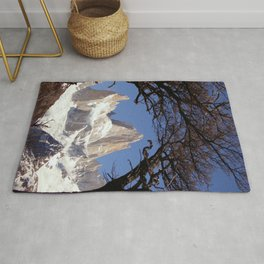 Fitz Roy Mountain Landscape (Patagonia, South America) Rug