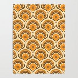 Orange  Daisy Dream Poster