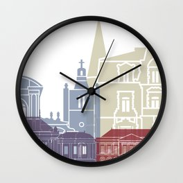 Le Havre skyline poster Wall Clock