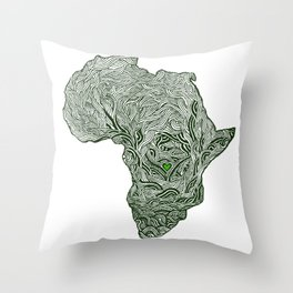 ROOTED (congo) Throw Pillow