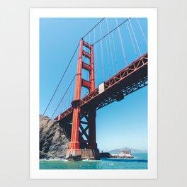 Under the Golden Gate Bridge, San Francisco, California Art Print