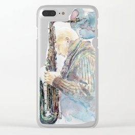 Saxophonist Clear iPhone Case