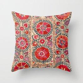 Samarkand Suzani Southwest Uzbekistan Embroidery Throw Pillow