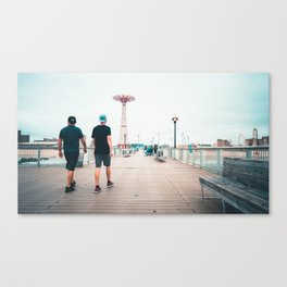 Coney Island Pier: Going Back Canvas Print