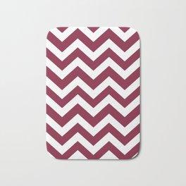 Claret - purple color - Zigzag Chevron Pattern Bath Mat