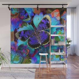Butterfly Blues Wall Mural