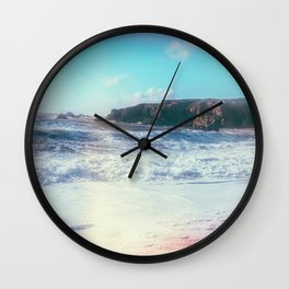 California Sunshine Waves Wall Clock