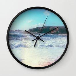 California Sunshine Waves Wall Clock