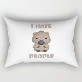 I Hate People Cute Wombat Funny Gift Idea Rectangular Pillow