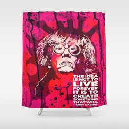 Pop-Art KING - Quote Shower Curtain
