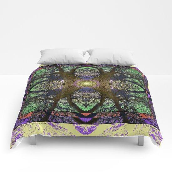 ANCIENT PEAR TREE MANDALA Comforters