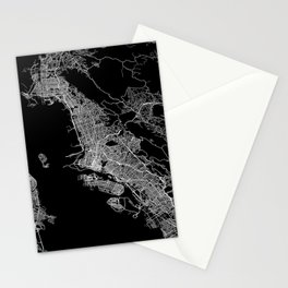 oakland map california Stationery Cards