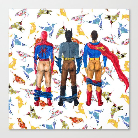 Super Hero BUTTs | It's a bird, it's a plane, it's... a booty Canvas Print