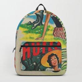 Huile d'Olive. Olive Oil - retro vintage poster Backpack